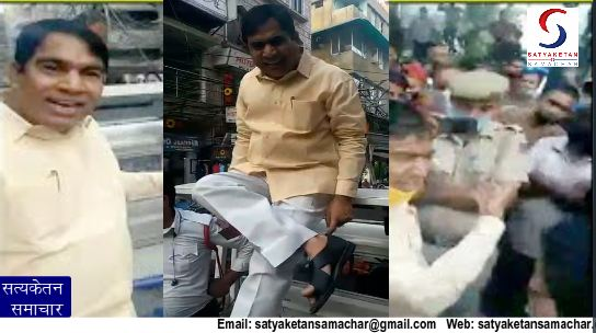 Former BJP Mayor Yogendra Chandolia did a video of such acts being viral