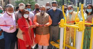 North Delhi Mayor Jai Prakash inaugurates open gym in Pitampura area